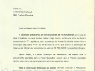 Resolução Legislativa nº 07, de 14 de maio de 2018, que autoriza a devolução de recursos da Câmara de Vereadores no valor de R$ 700.000,00 (setecentos mil reais).